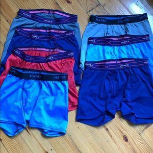 Lot of Hanes Boys Large athletic boxer underwear